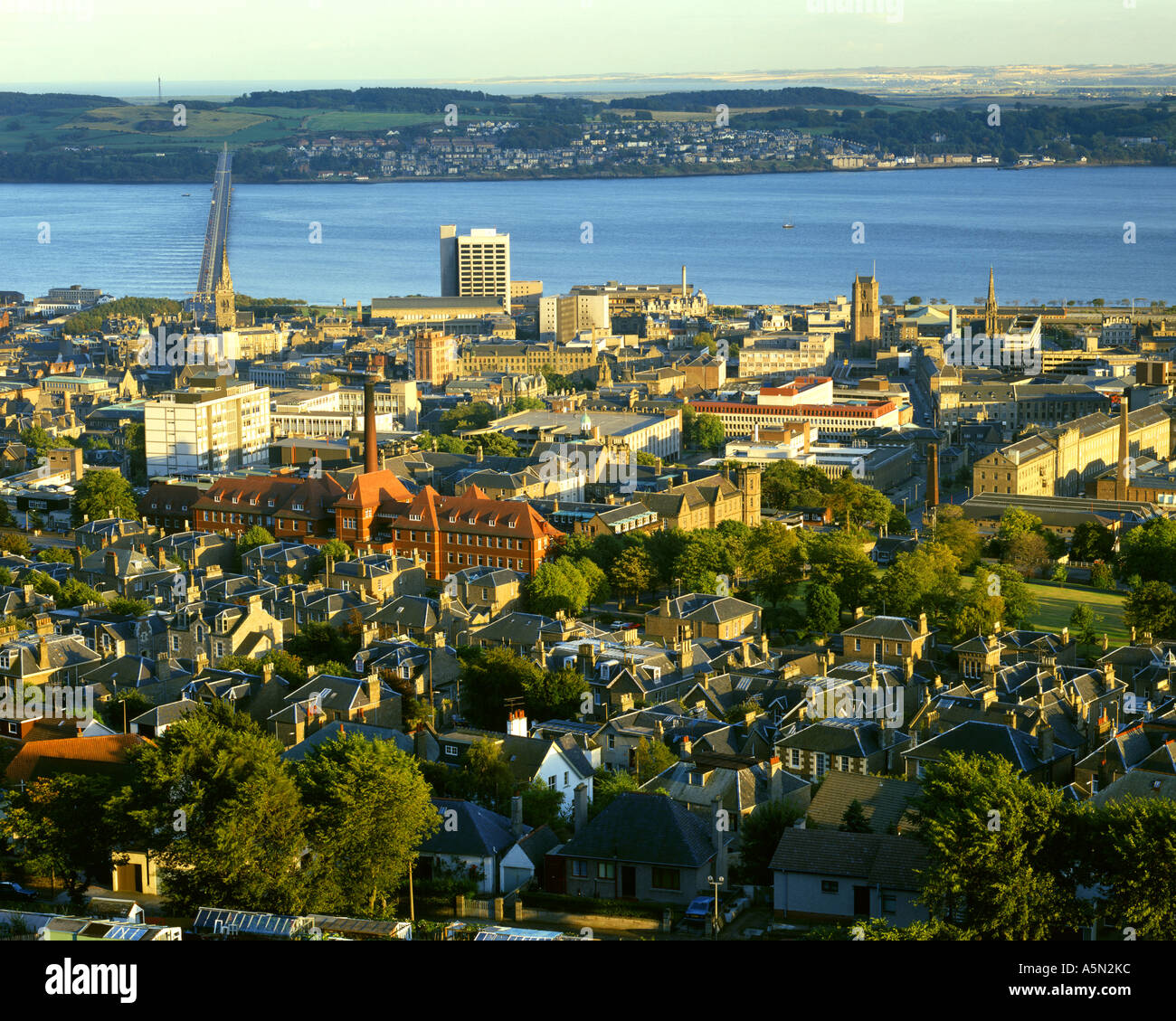 GB - SCOTLAND:  Dundee in Tayside seen from The Law - Stock Image