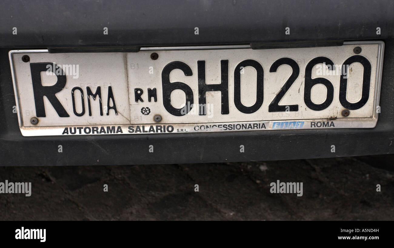 Italy Plate Old Car Stock Photos & Italy Plate Old Car Stock Images ...