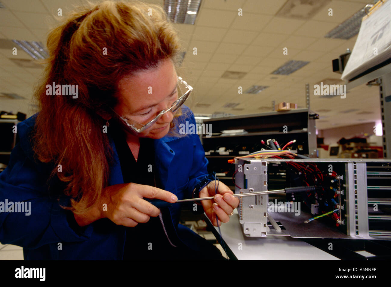 Electronic Assembly Workers : Electronics factory assembly stock photos