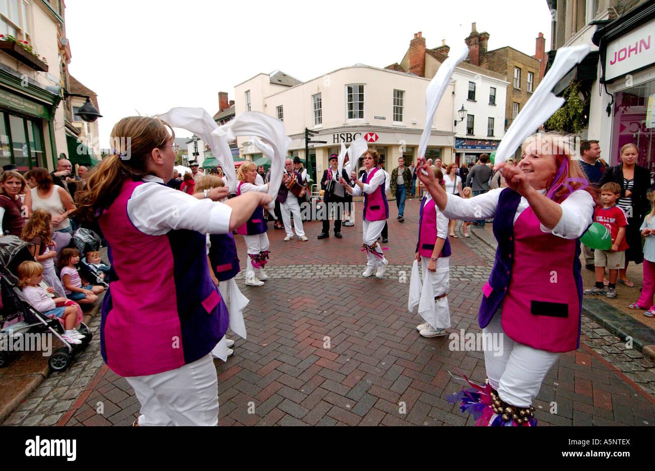 Morris dancers at the Faversham Hop Festival, Faversham