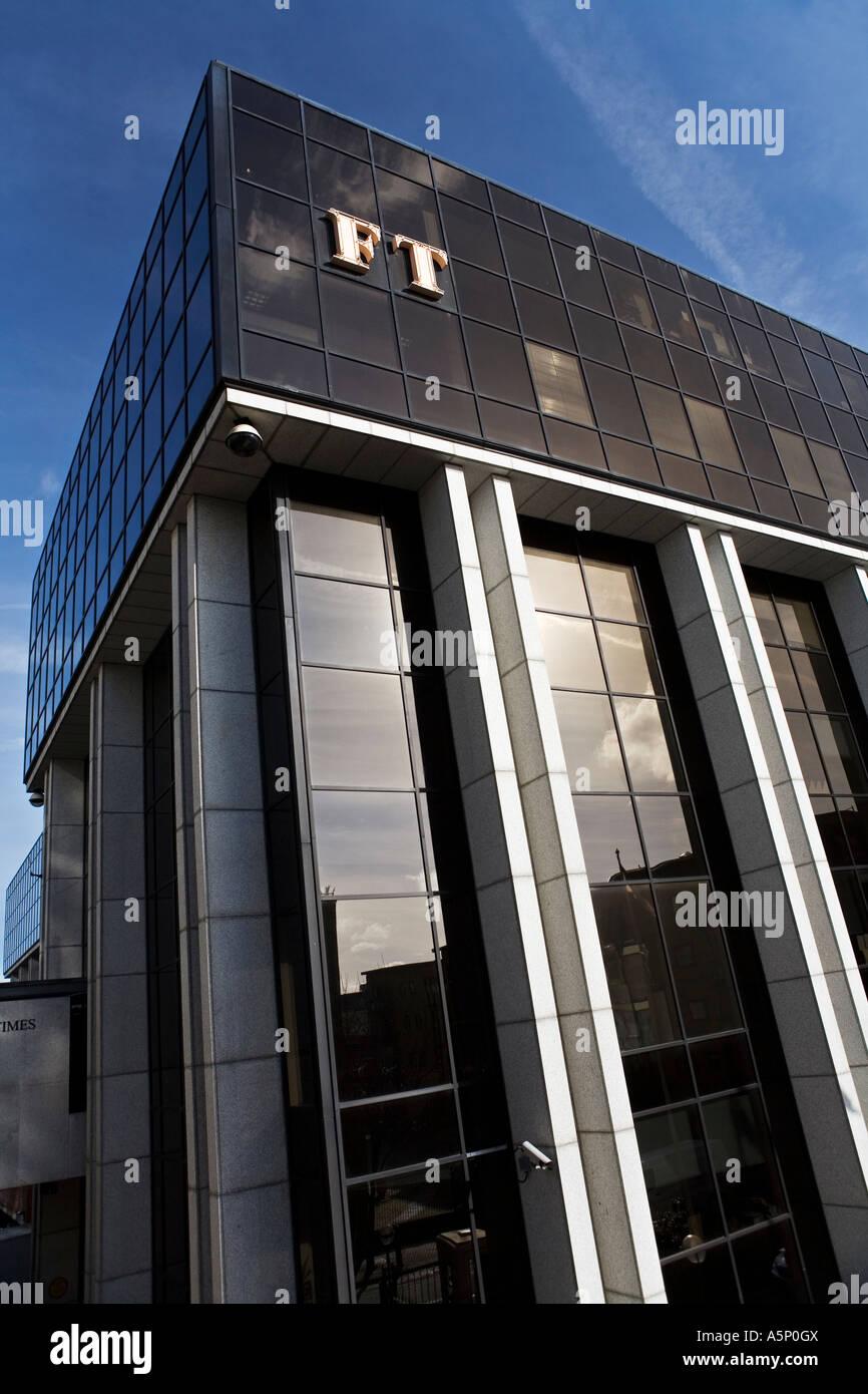 Financial Times FT Newspaper headquarters at Southwark Bridge London - Stock Image
