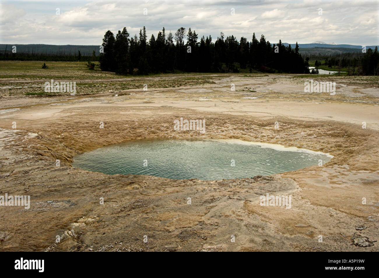 Opal Pool, Midway Geyser Basin, Yellowstone National Park Stock Photo