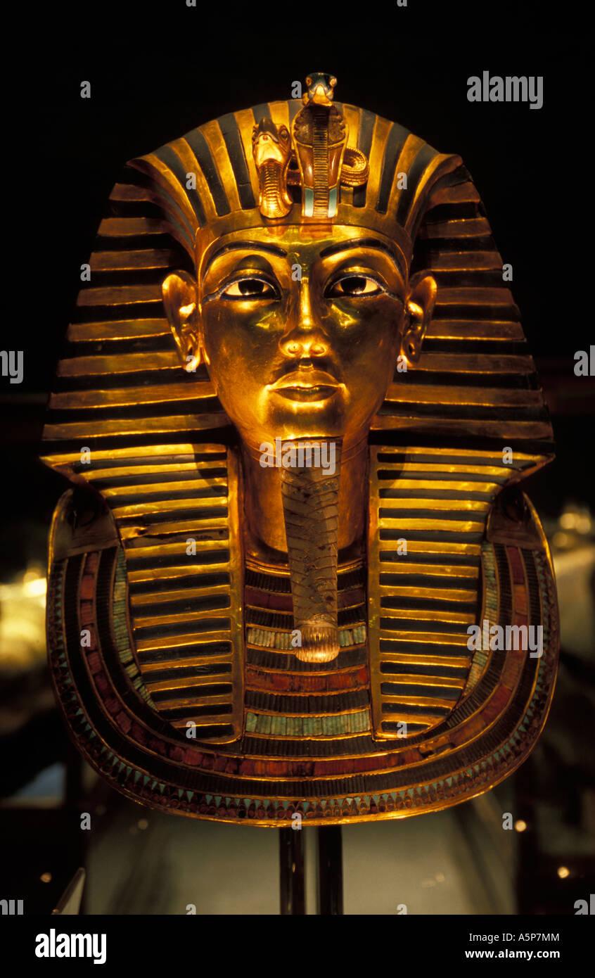 Mask of Tutankhamun, Egyptian museum, Cairo, Egypt - Stock Image
