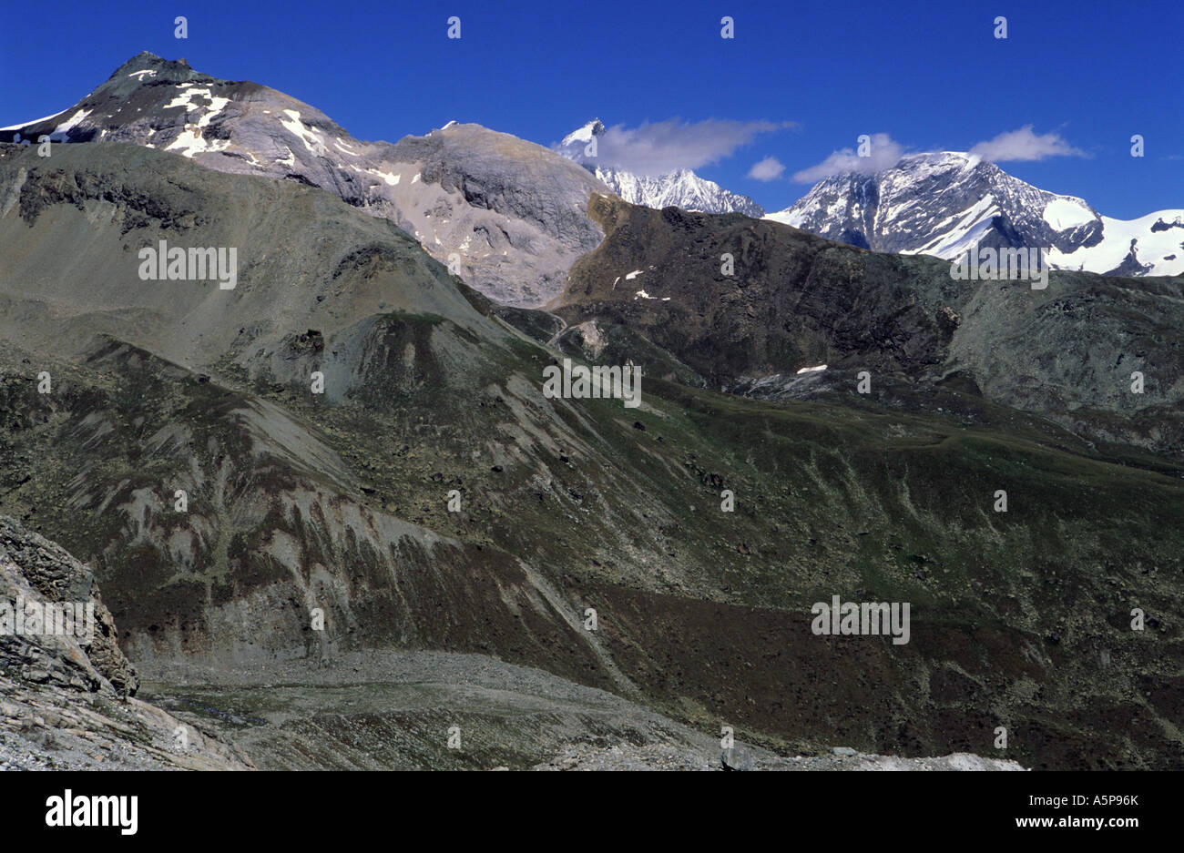 Trift area mountain lansdcape - Stock Image