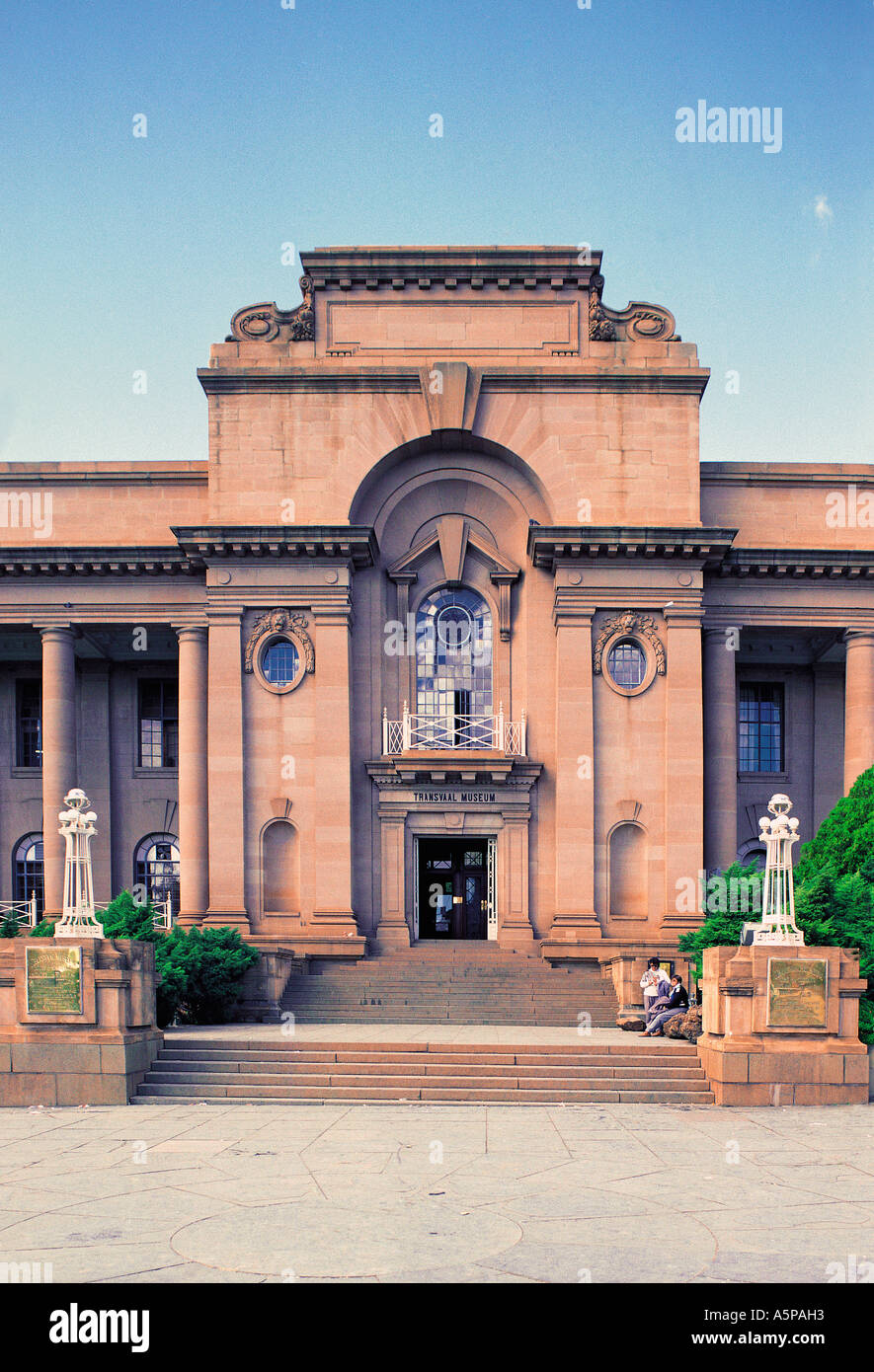 Entrance to the Transvaal Museum Pretoria South Africa - Stock Image