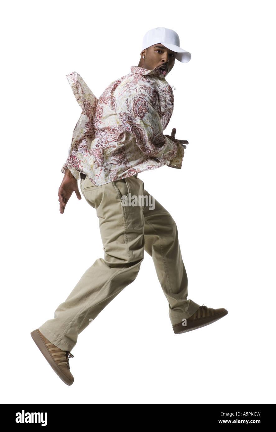 African American man running Stock Photo