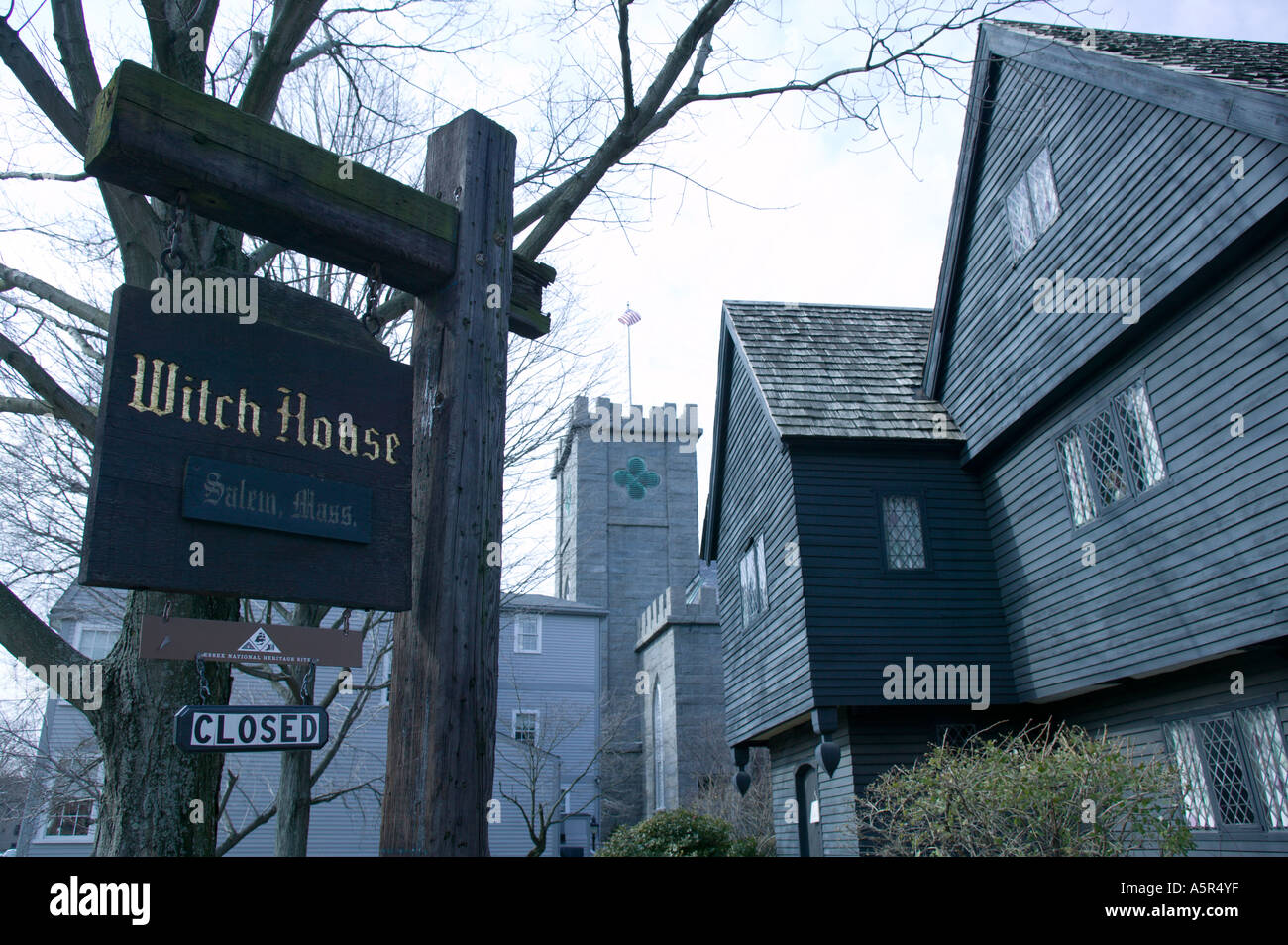 Salem Witch House Museum Salem Massachusetts Stock Photo ...