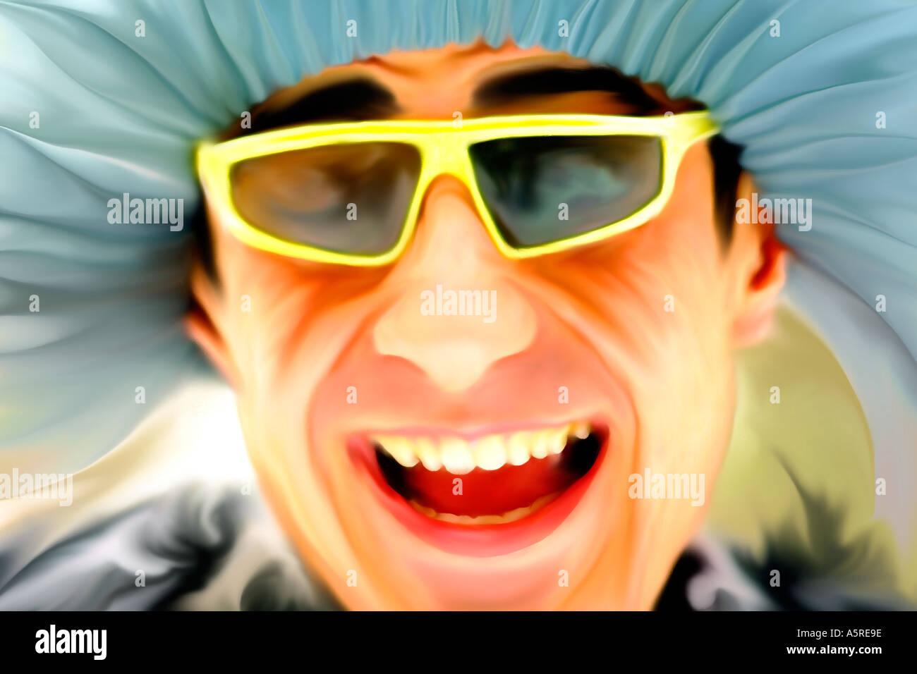Funny portrait - Stock Image