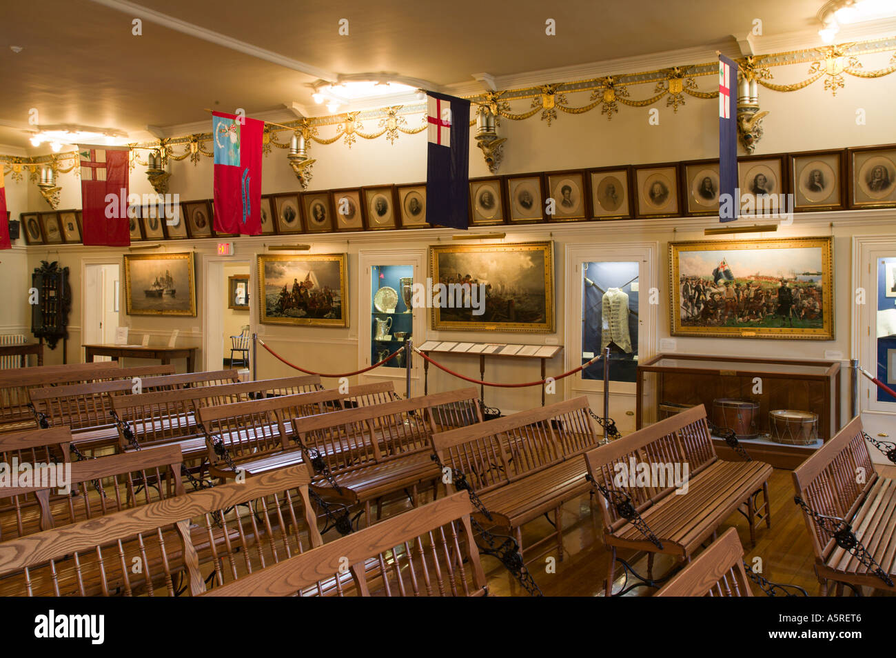 Museum of Ancient and Honorable Artillery Company Faneuil Hall Boston Massachusetts - Stock Image