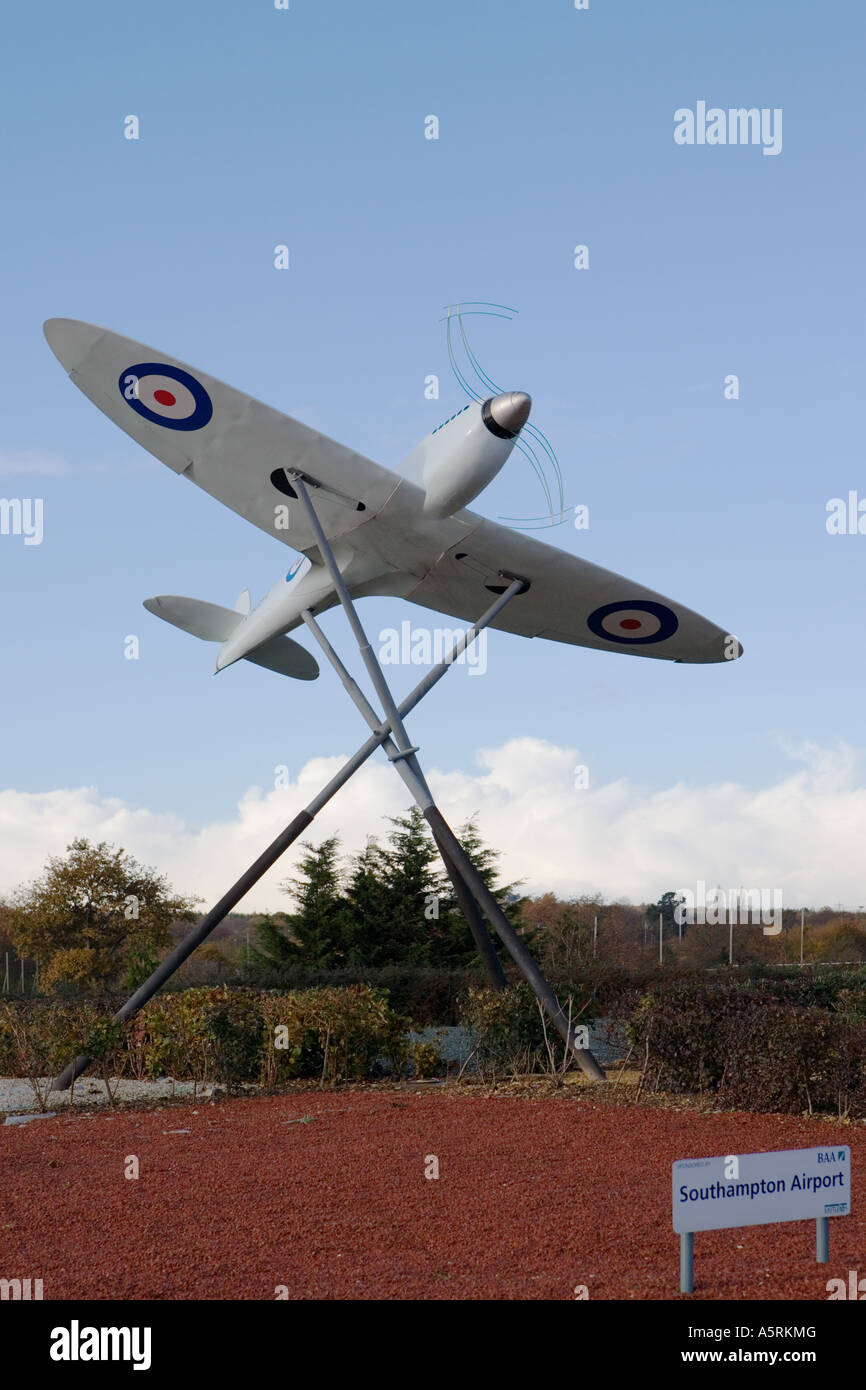 Southampton Airport Entrance England Supermarine Spitfire Prototype K5054 - Stock Image
