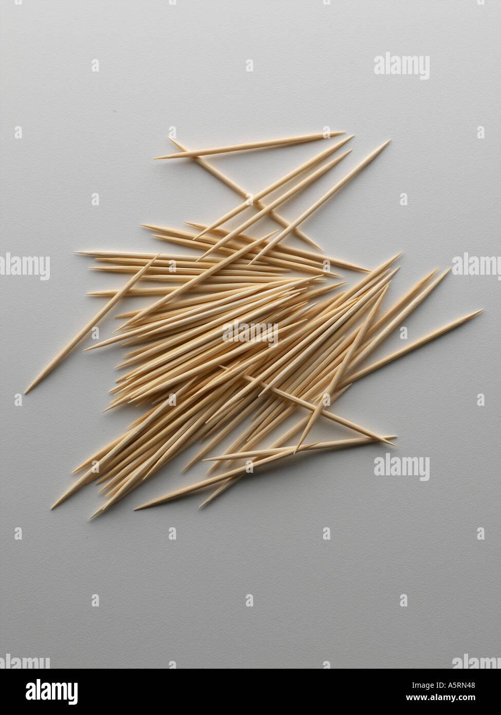 close up toothpicks - Stock Image