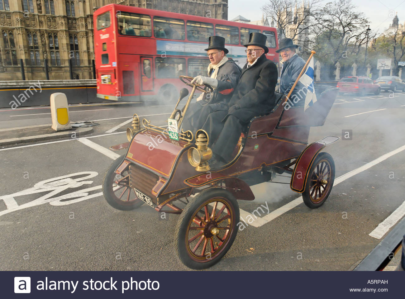 1904 Ford at annual London Brighton run of the 'Veteran Car Club' - Stock Image