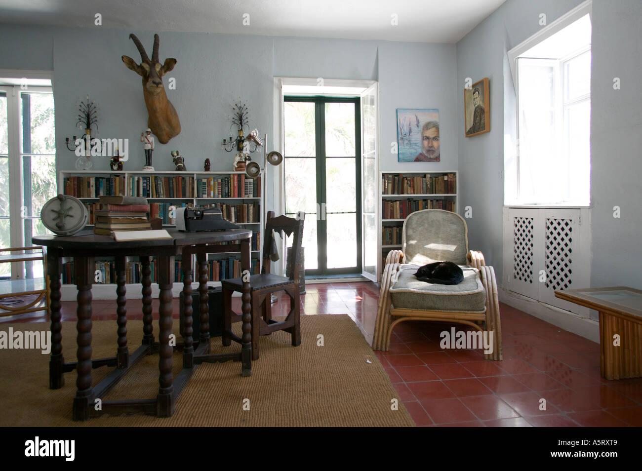 Writers Studio at Ernest Hemingway Residence Key West Florida Stock Photo