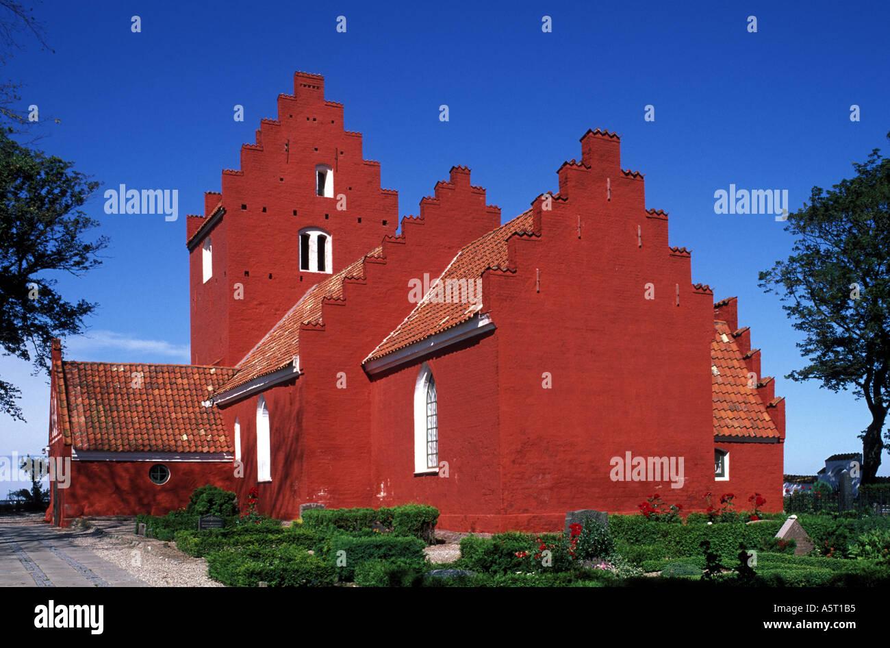 Denmark Sealand the Odden Kirke - Stock Image