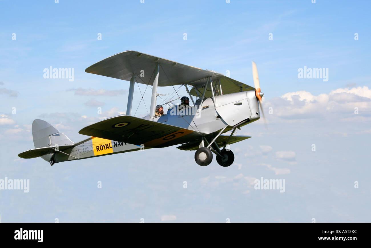 Tiger Moth. Vintage aircraft. Bi-plane.UK. - Stock Image