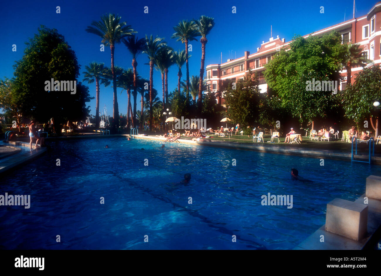 The Pool At The Old Cataract Hotel Aswan Egypt Stock Photo
