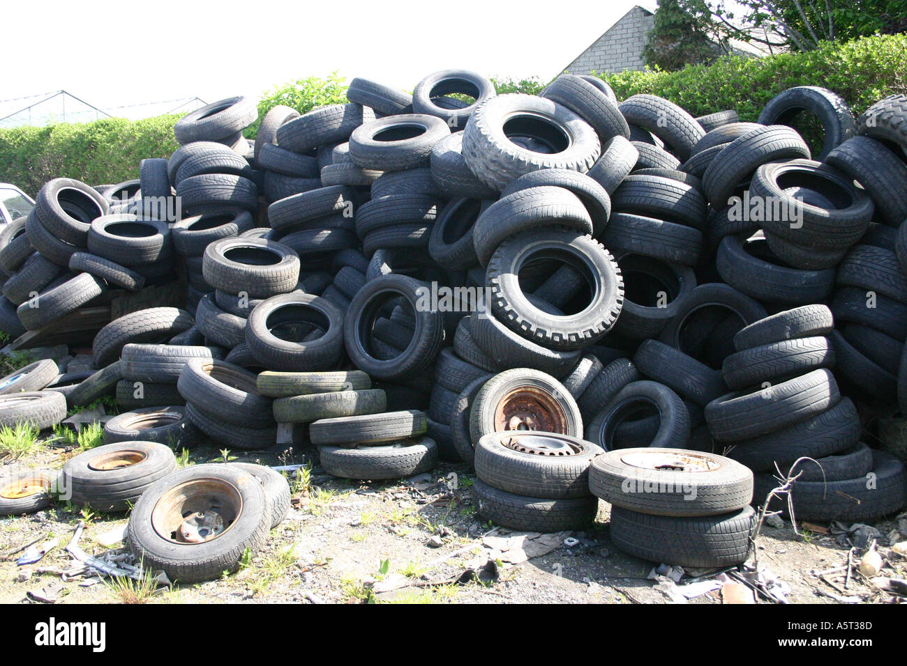 Used tyres - Stock Image