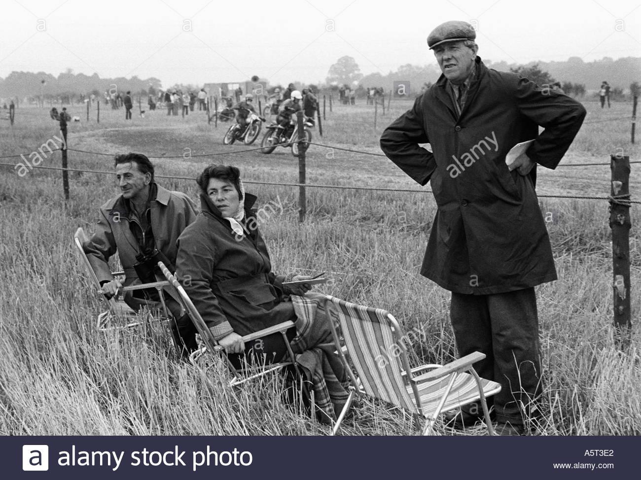 Motorcycle scramble in Essex, UK - Stock Image