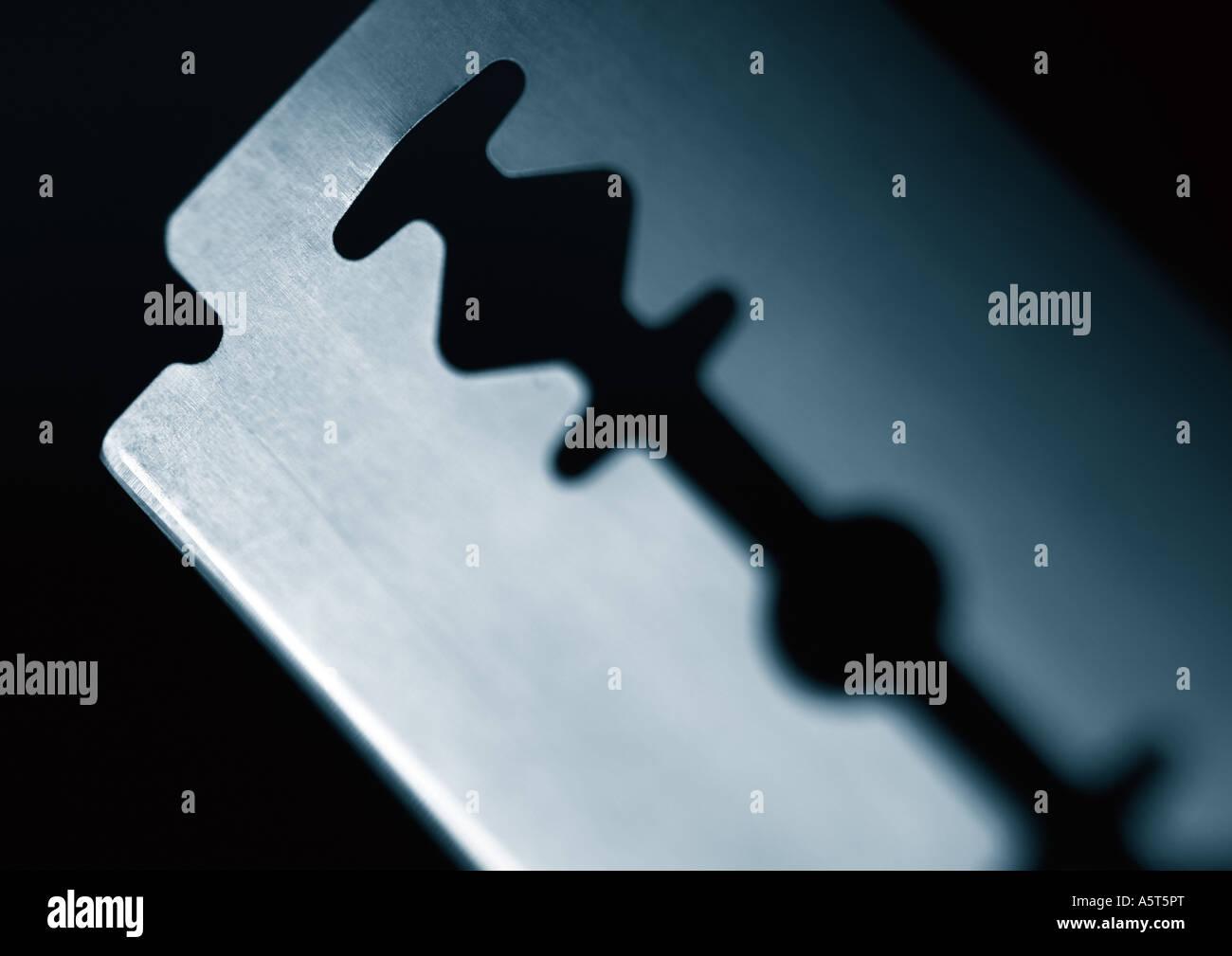 Razor blade - Stock Image