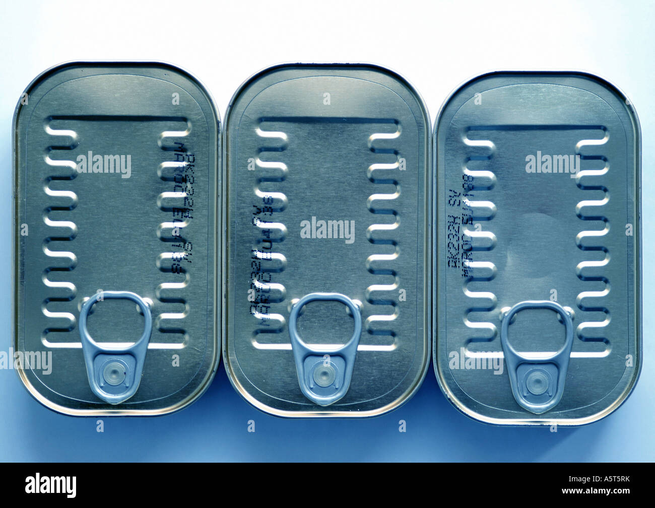 Sardine cans - Stock Image