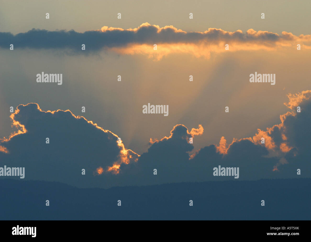 Cloudscape at sunset - Stock Image