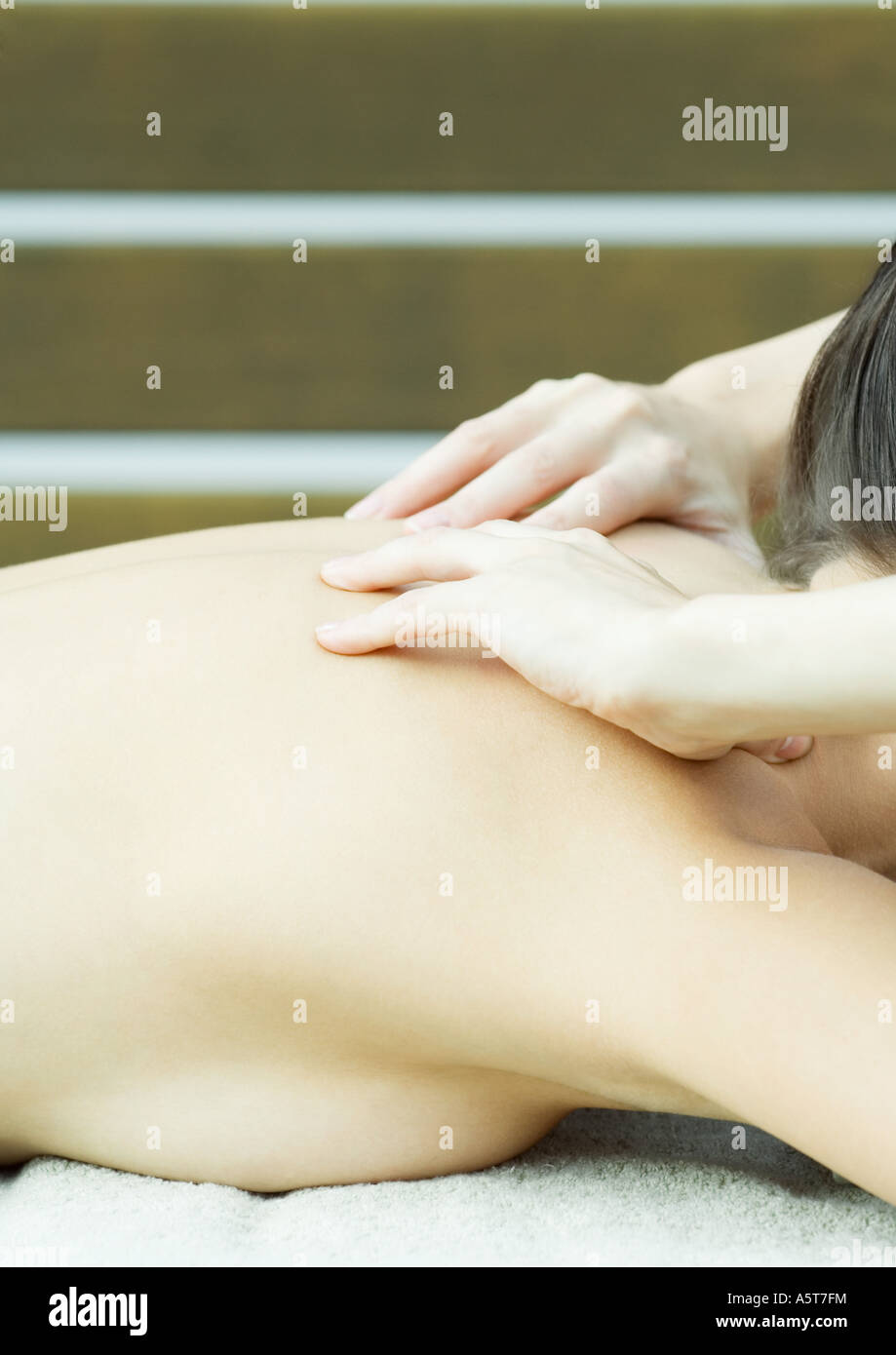 Woman having massage - Stock Image
