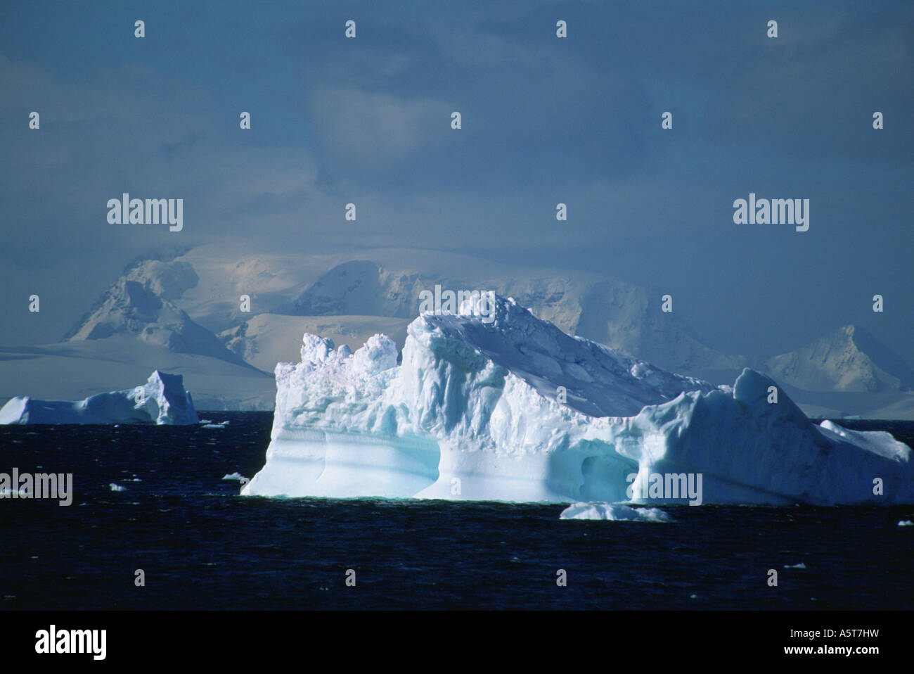 Iceberg in the Neumayer Channel Antarctica - Stock Image