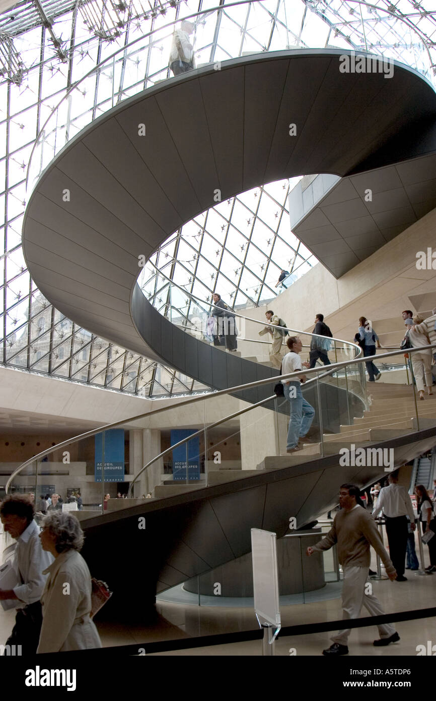 The Floating Spiral Staircase Inside The I. M. Pei Pyramid Is Awesome Both  In Design And Construction