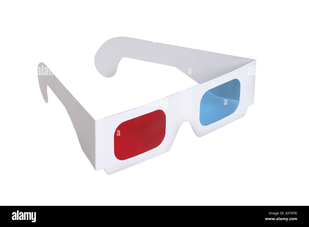 3-D glasses cut out on white background Stock Photo