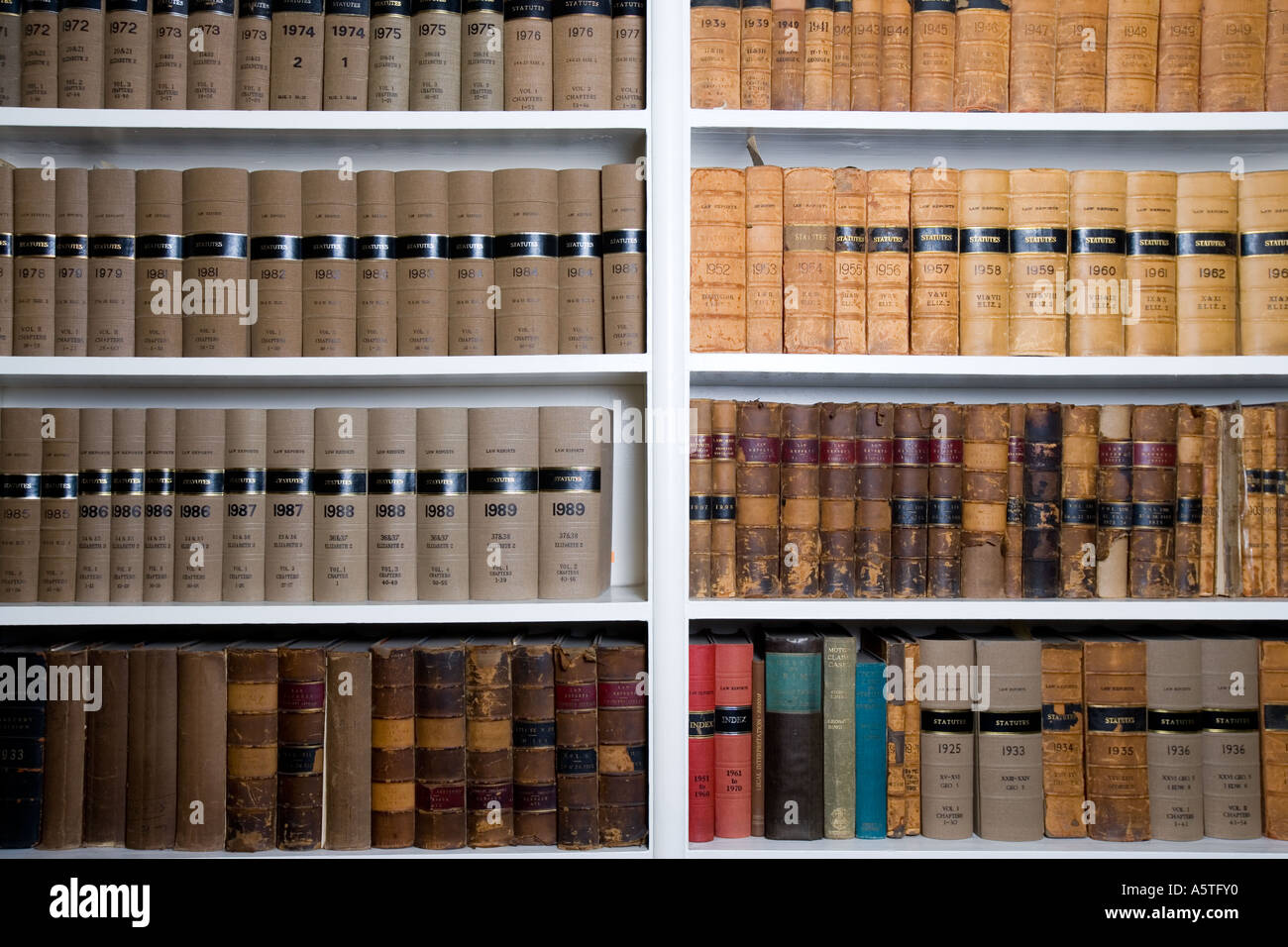 Legal Books And Law Reports On A Bookshelf In Lawyers Chambers London