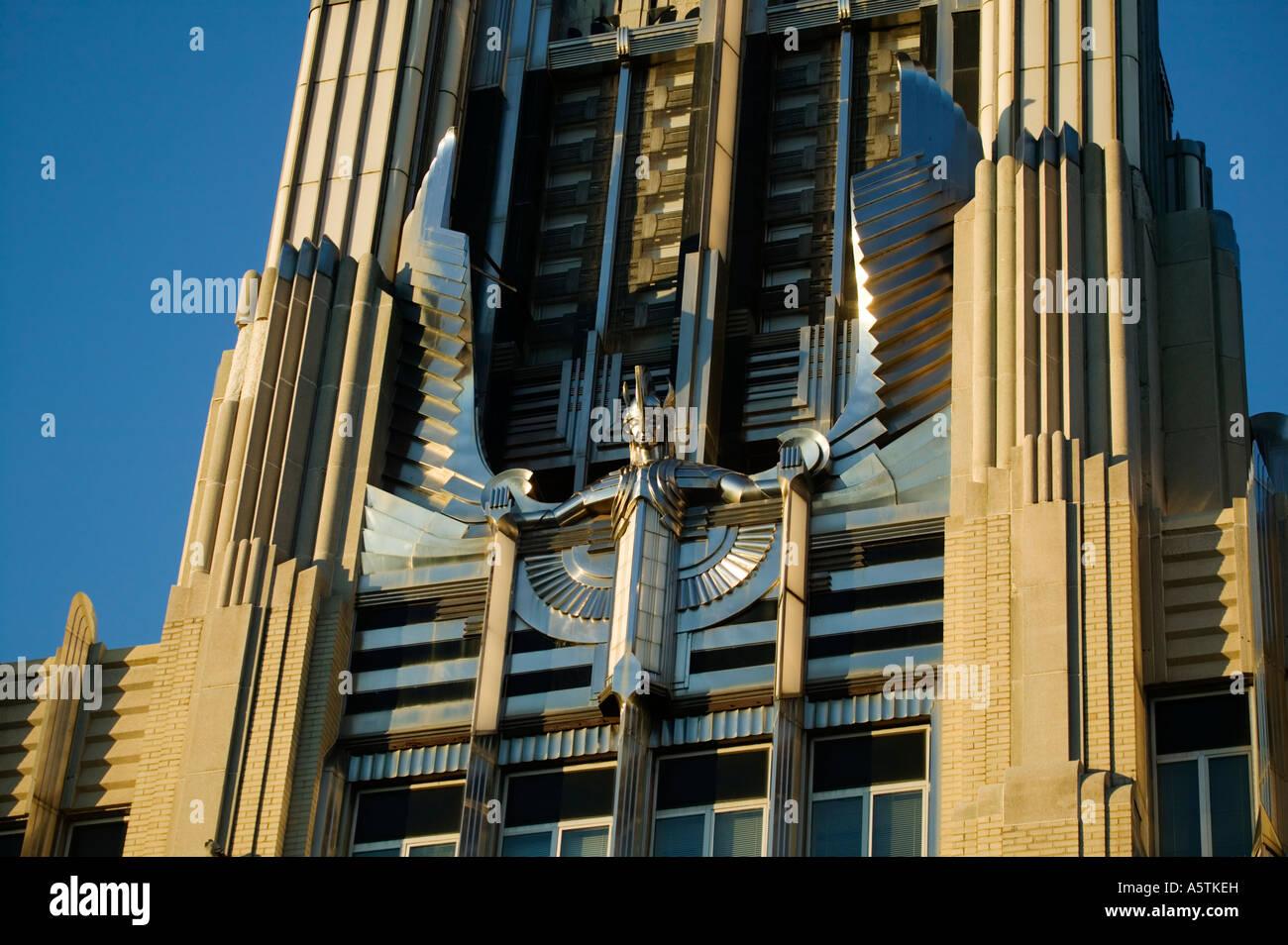 Art deco motif in stainless steel on Niagara Mohawk Building ...