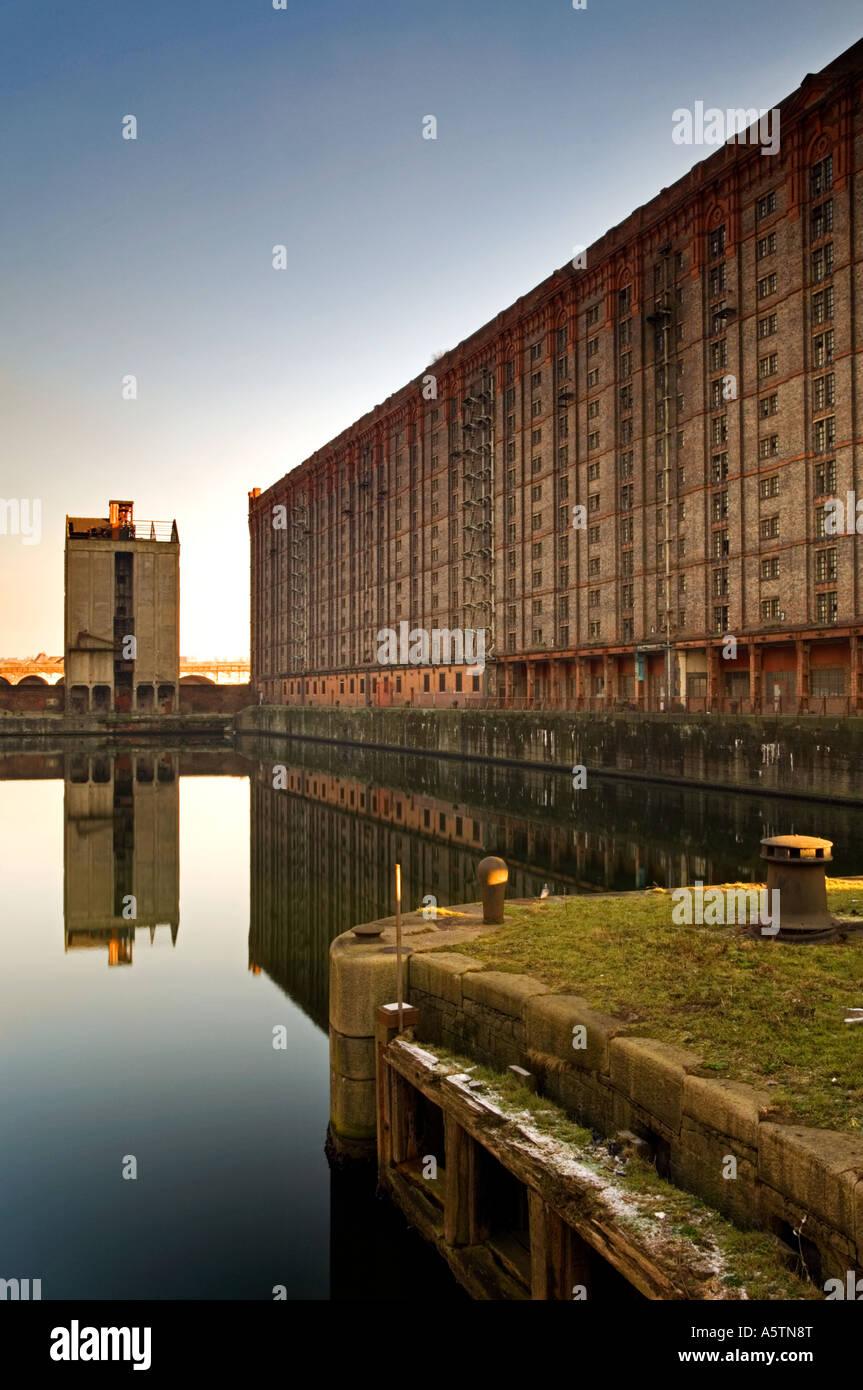 Abandoned Warehouse at Stanley Dock, Liverpool, Merseyside, England, UK Stock Photo