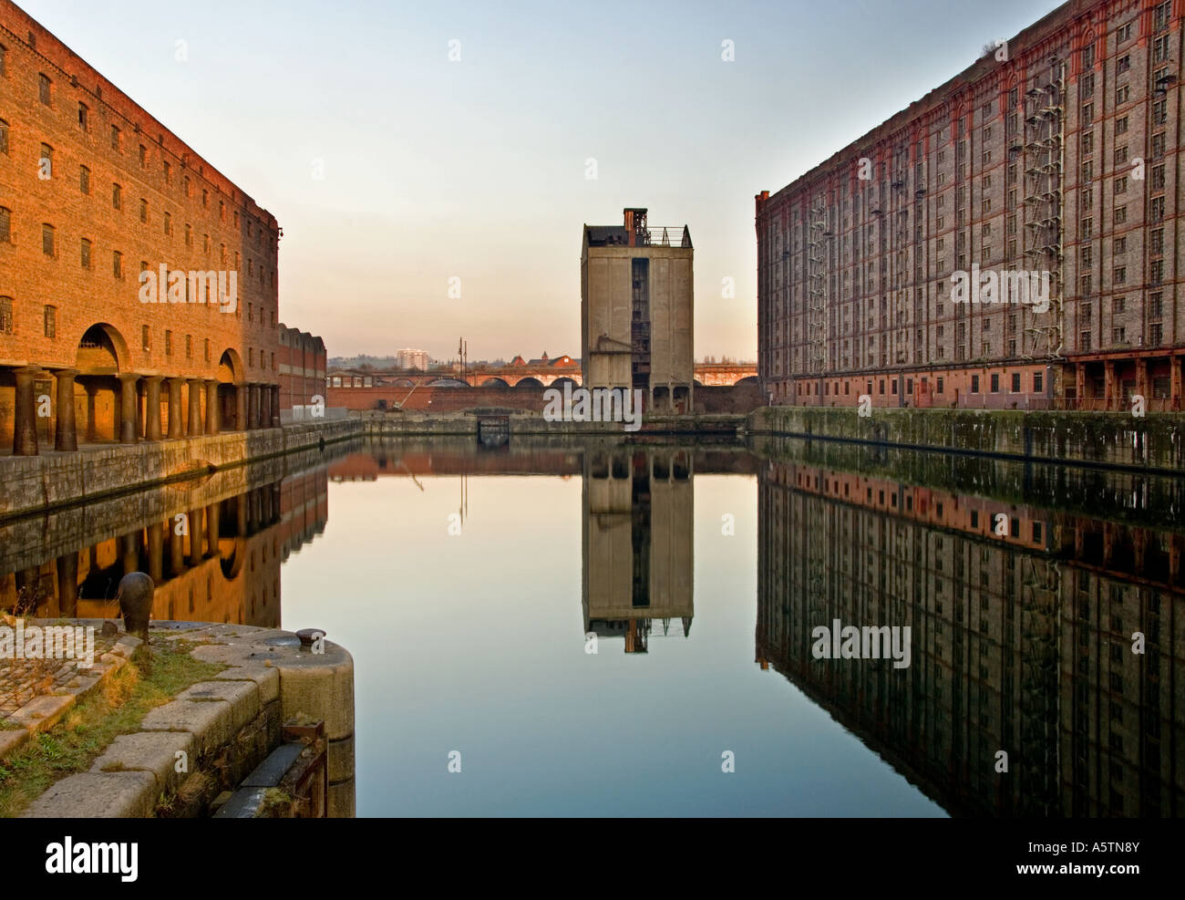 Abandoned Tobacco Warehouses at Stanley Dock, Liverpool, Merseyside, England, UK Stock Photo
