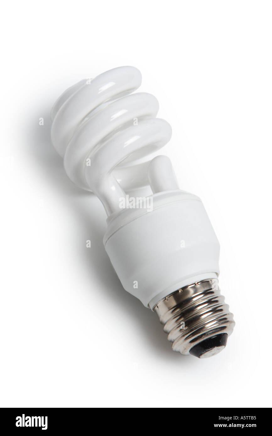 Energy efficient compact florescent light bulb - Stock Image