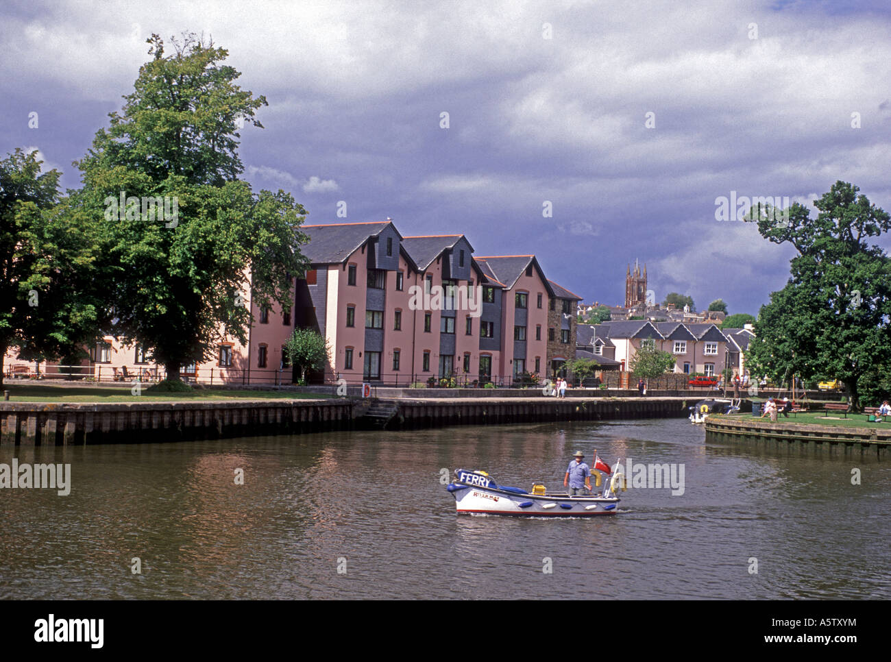 The market town of Totnes on the River Dart in South Devon. XPL 5016-468 - Stock Image