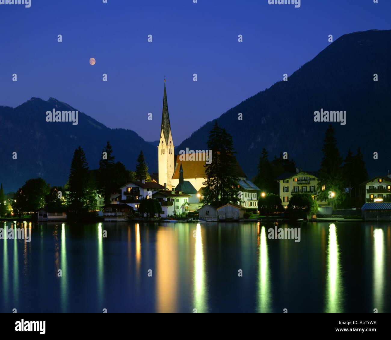 DE -  BAVARIA:  Rottach Egern on Lake Tegernsee - Stock Image