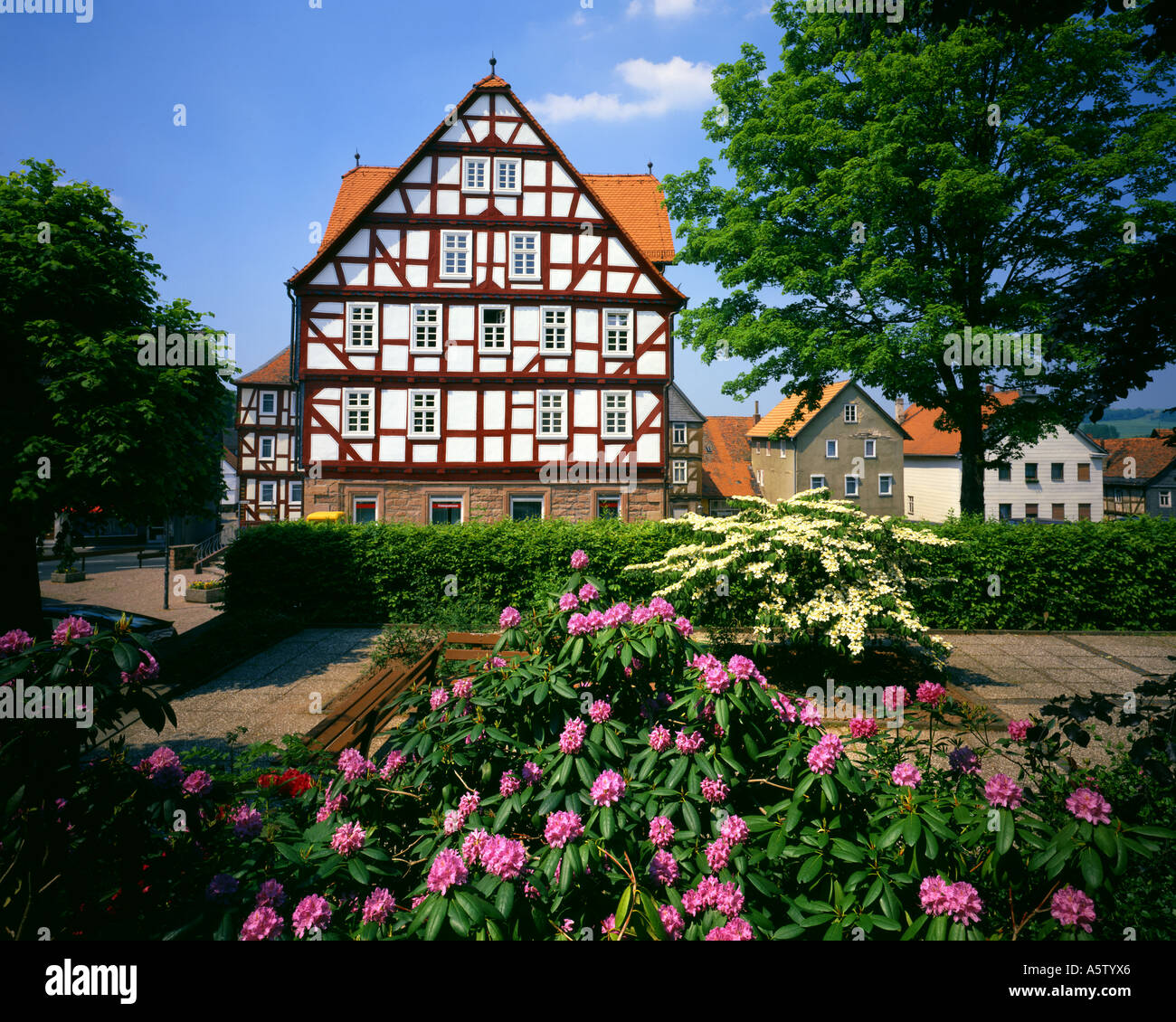 DE - HESSEN: Town centre at Wetter - Stock Image