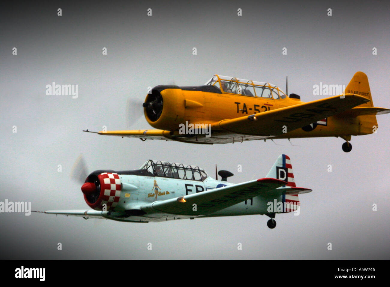 United States of America Airforce Second World War Harvard Fighter Planes - Stock Image