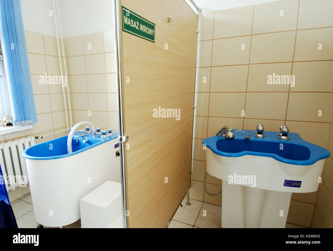 Poland, Lodz, equipment for rotational water massage baths with ...