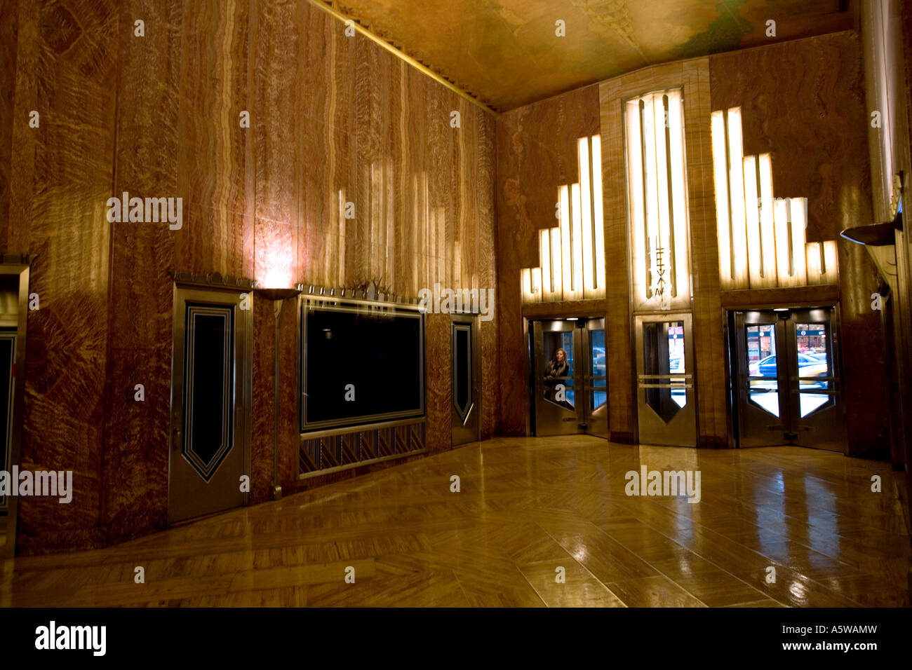 Interior lobby detail on the Chrysler Building in New York City USA 2007 - Stock Image