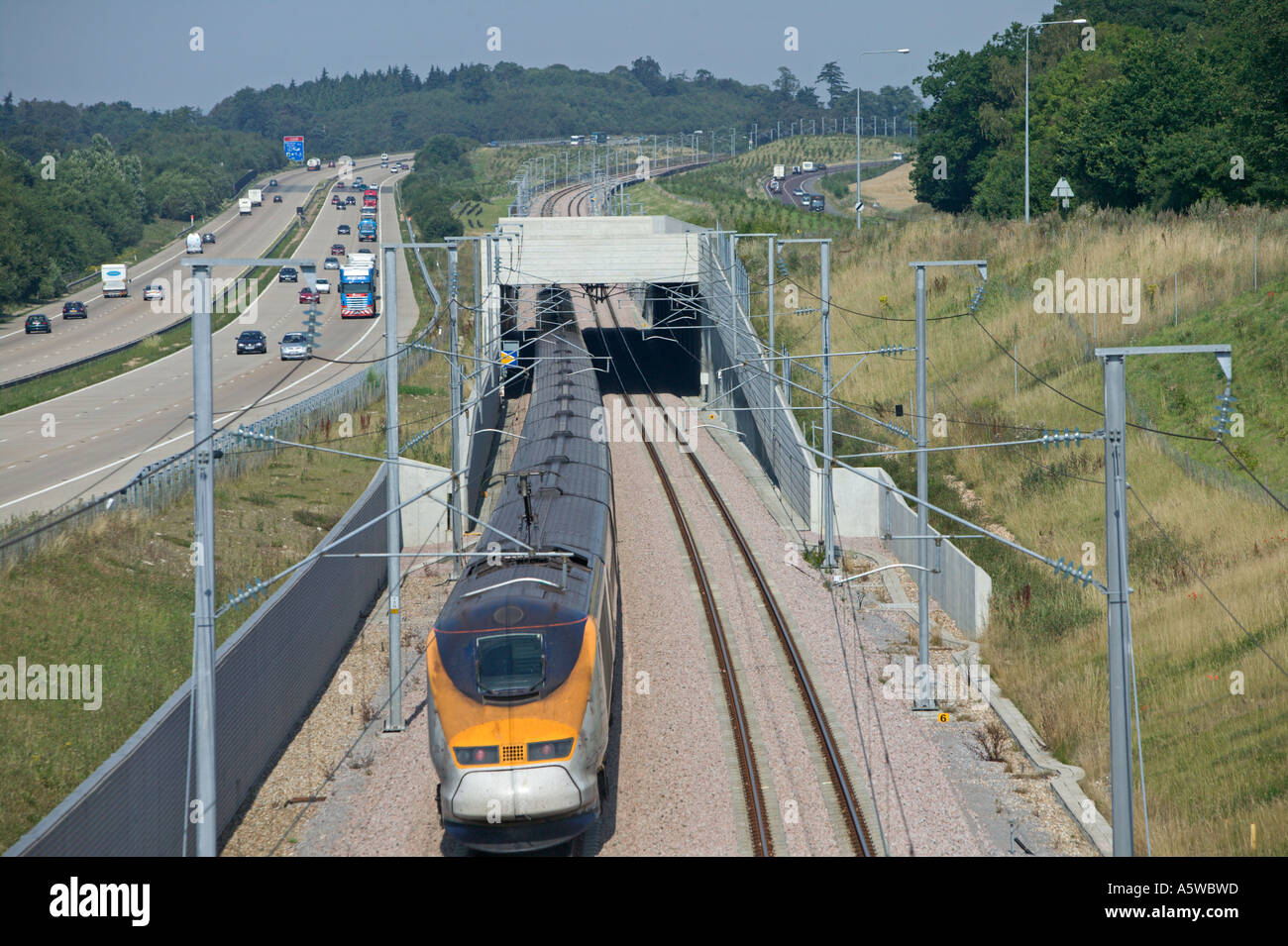 Eurostar Train Operating On High Speed One Channel
