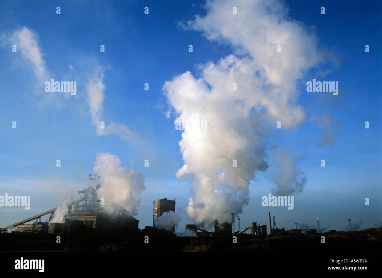 Skyline, Teesmouth Steel Works, England, UK, GB. - Stock Image