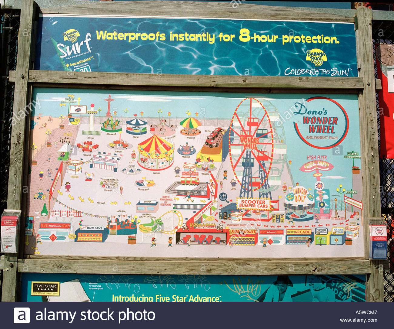Funfair Guide Map At Coney Island New York Usa Photo By Geraint