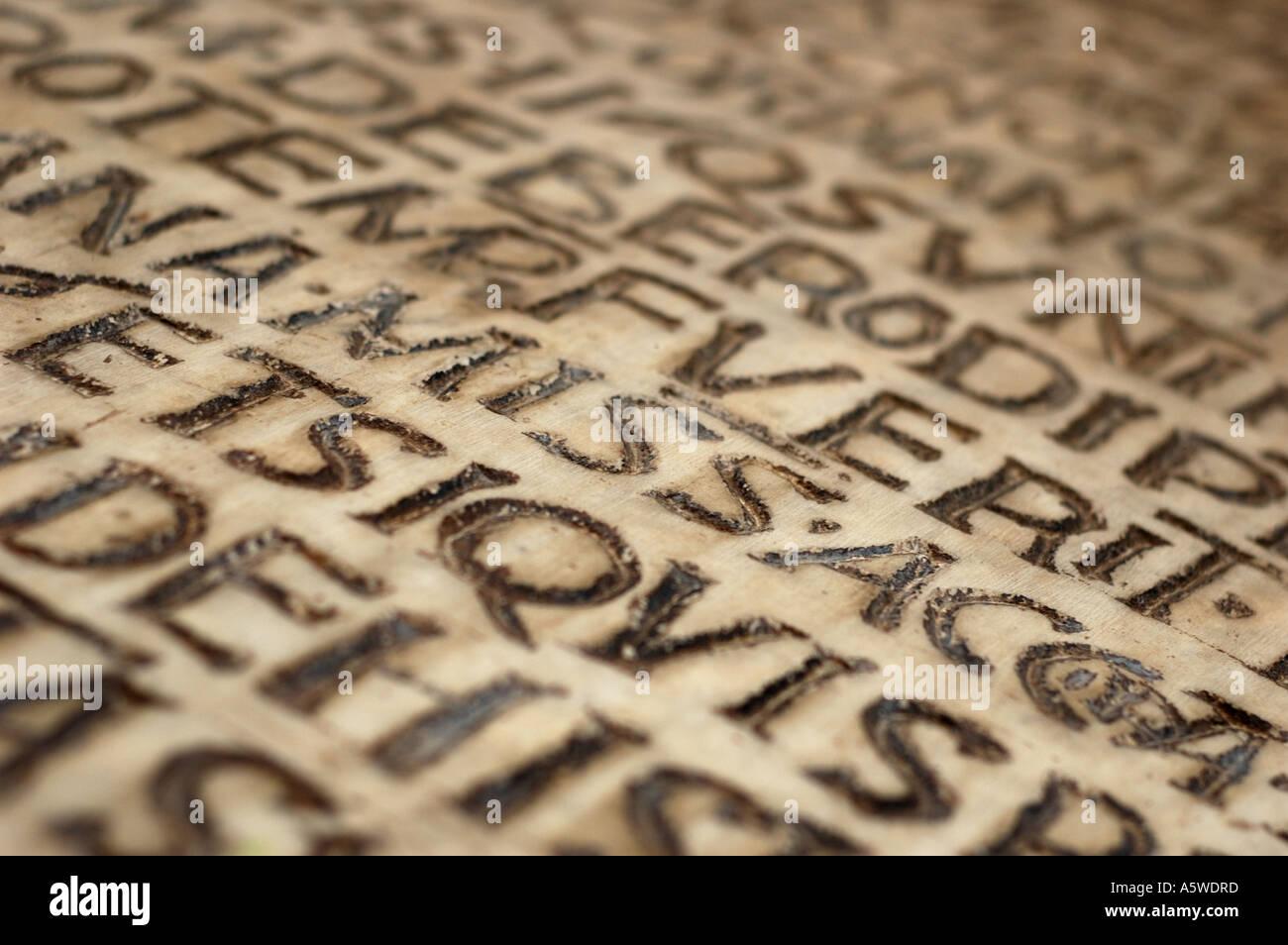 Inscription, Rome, Italy - Stock Image