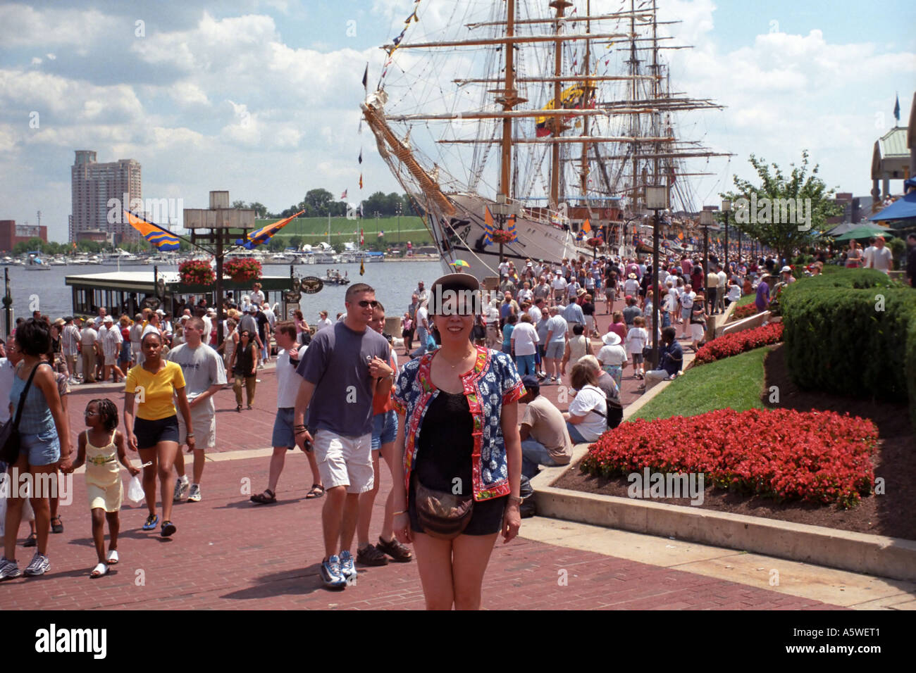 Tourists visiting Baltimore during Opsail - Stock Image