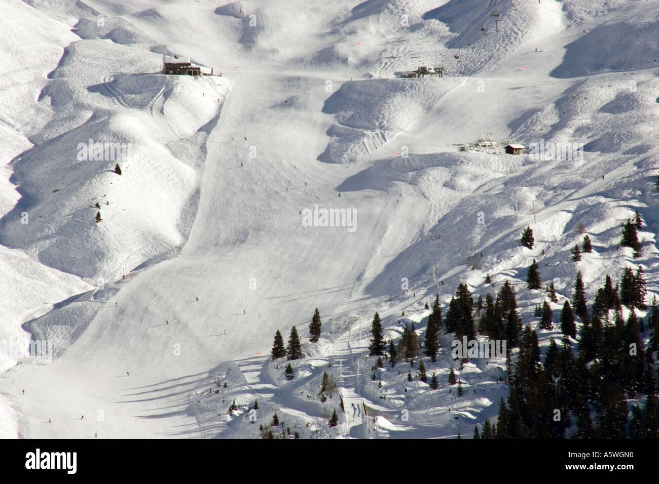 Piste Flaine Ski Resort In Stock Photos & Piste Flaine Ski Resort In ...