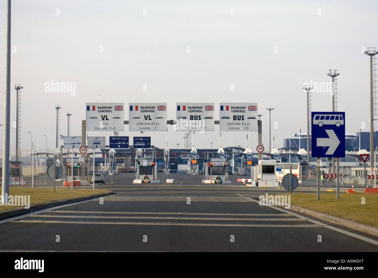 Passport Control Calais ferry port France Nord Pas-de-Calais