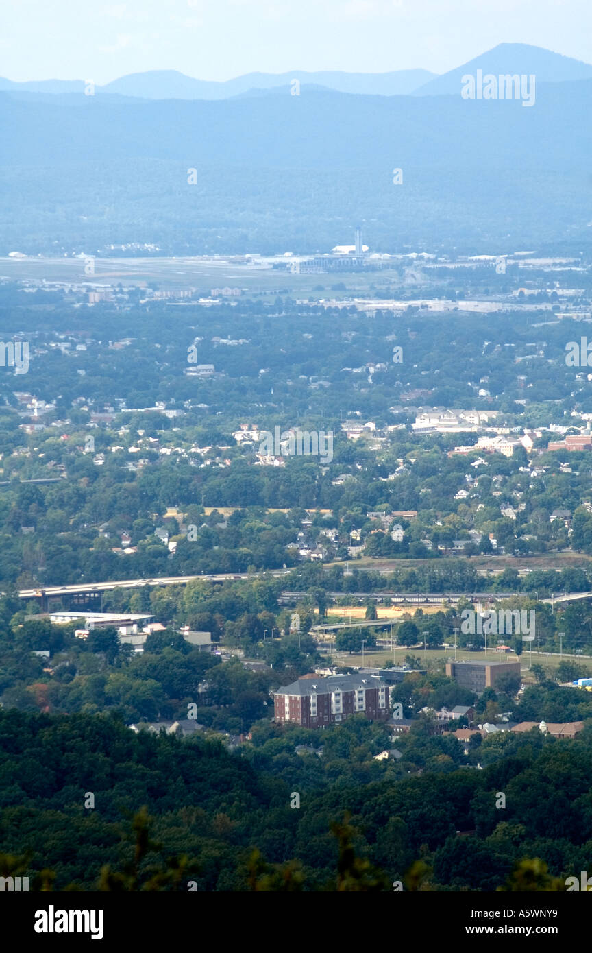 Landscape of the Suburban area of Roanoke, Virginia Stock Photo