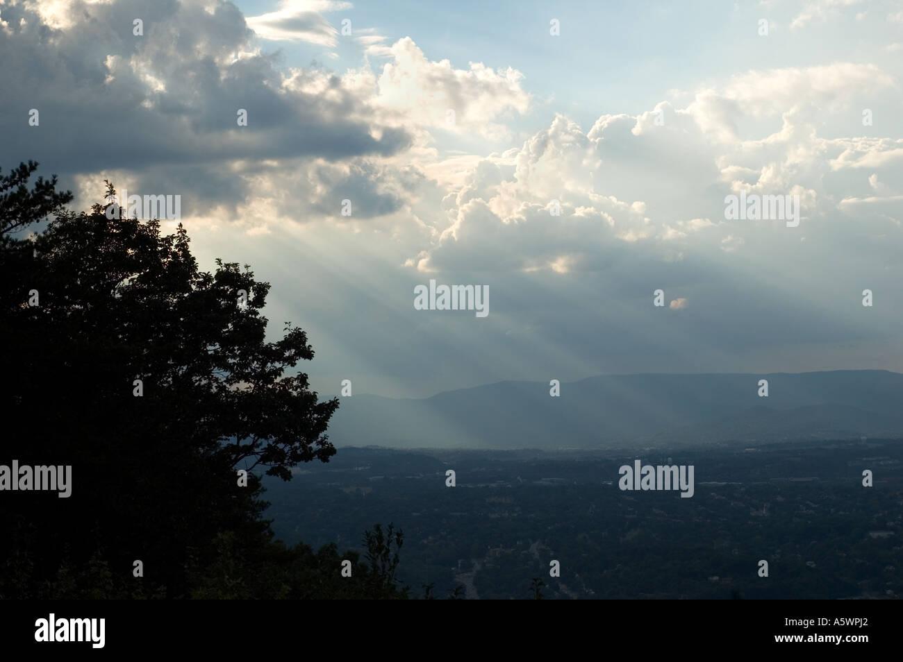 Landscape of Roanoke, Virginia Stock Photo