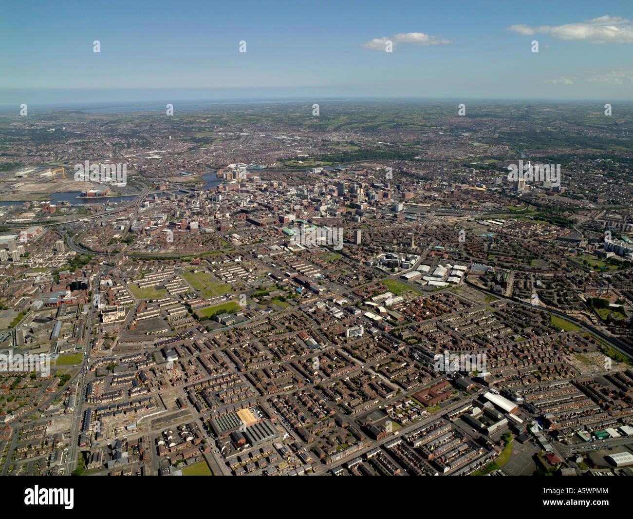 Belfast Aerial, Northern Ireland. West Belfast - Stock Image